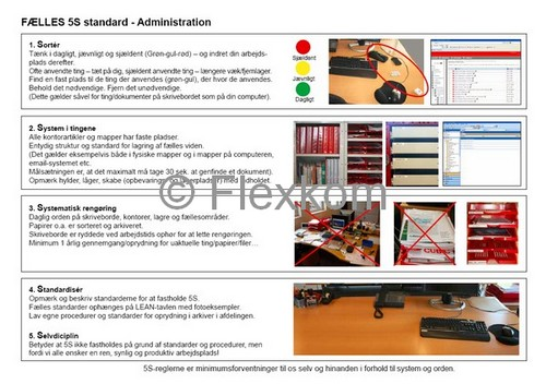5S standard i Lean Administration