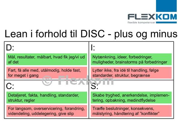 DISC Personprofiler set i forhold til Lean