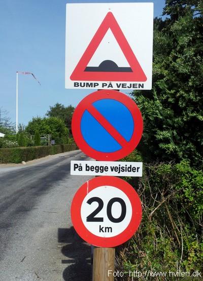 Vejskilt 20 km/t